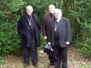 De gauche à droite : Mgr Mouïsse, Mgr Turini(second plan) et Mgr Herbreteau.