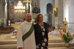 Le nouveau diacre et son épouse, Ségolène