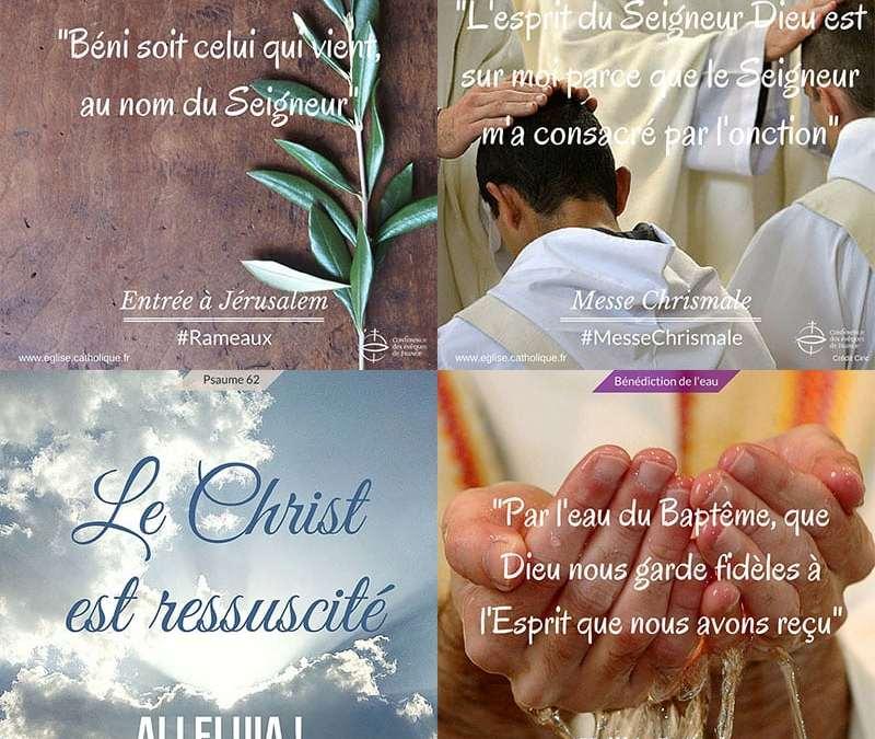 Les horaires de messe de la Semaine Sainte