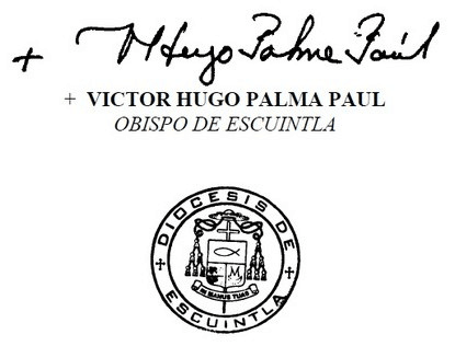 Firma Monseñor Palma
