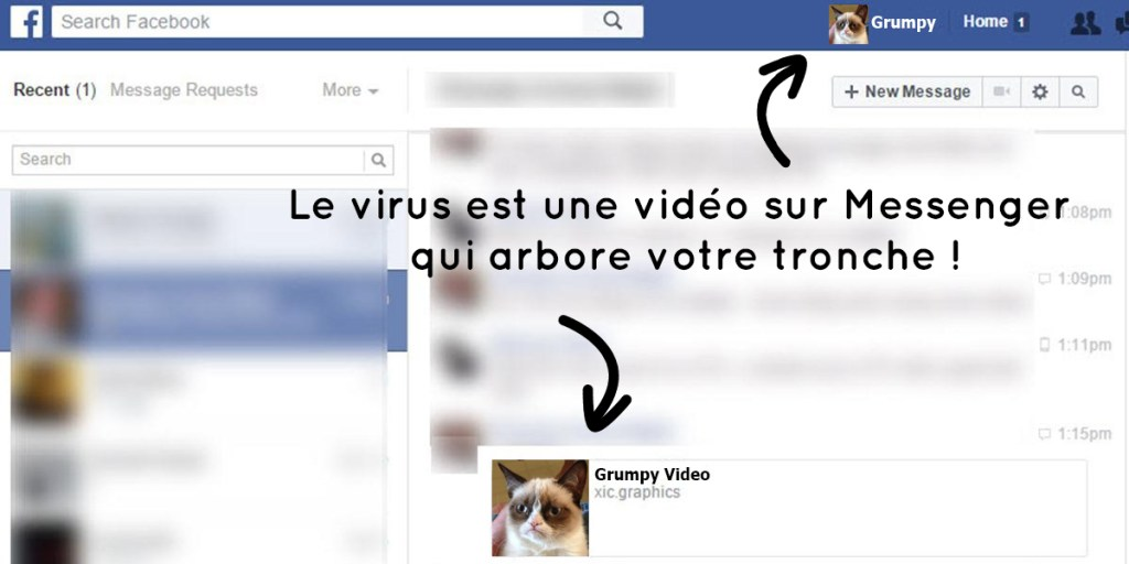 Virus Messenger Facebook
