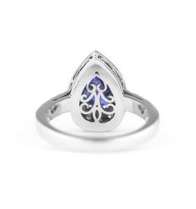 Celestine blue sapphire ring