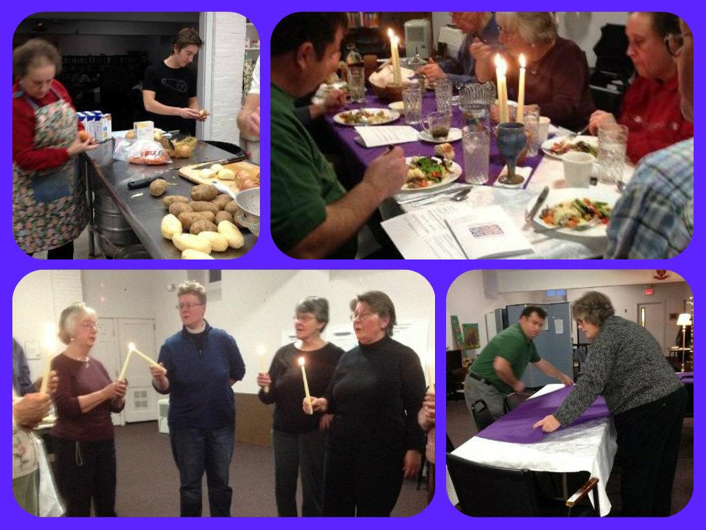 Advent Dinner Church 2014 Collage