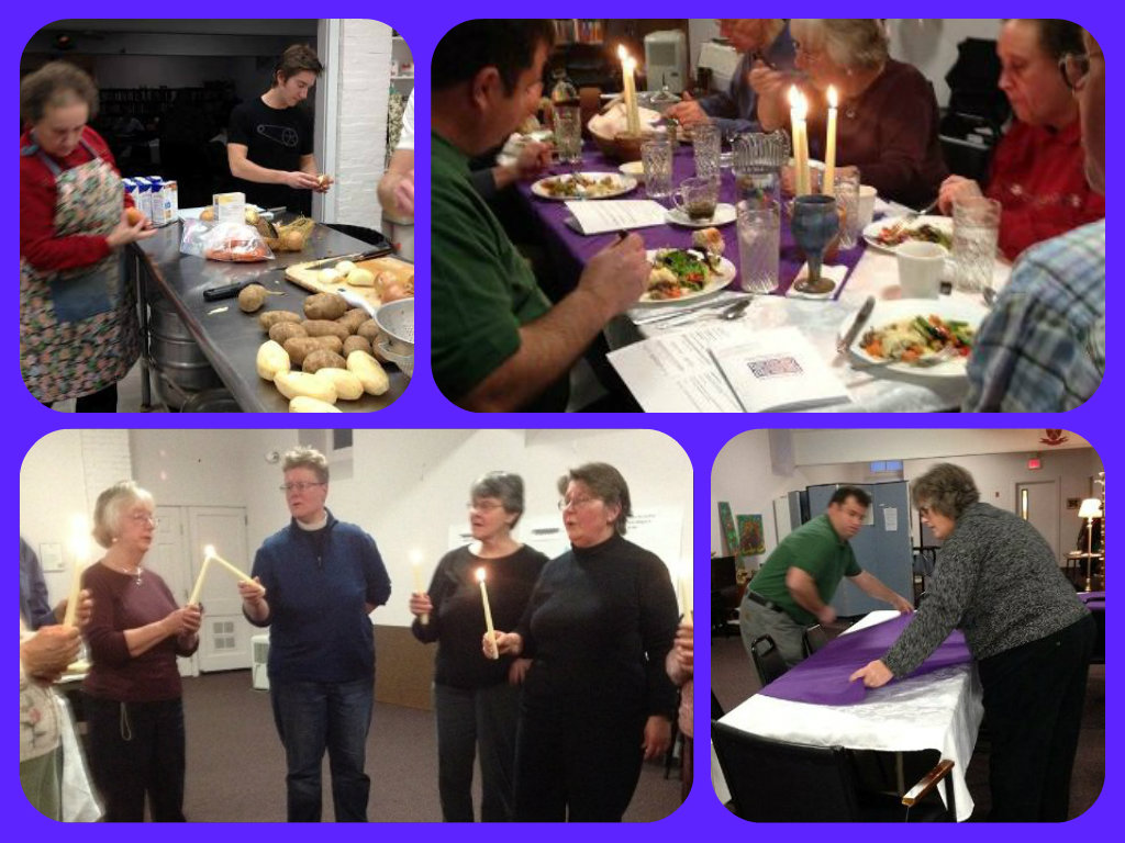 Advent Dinner Church 2014 Collage