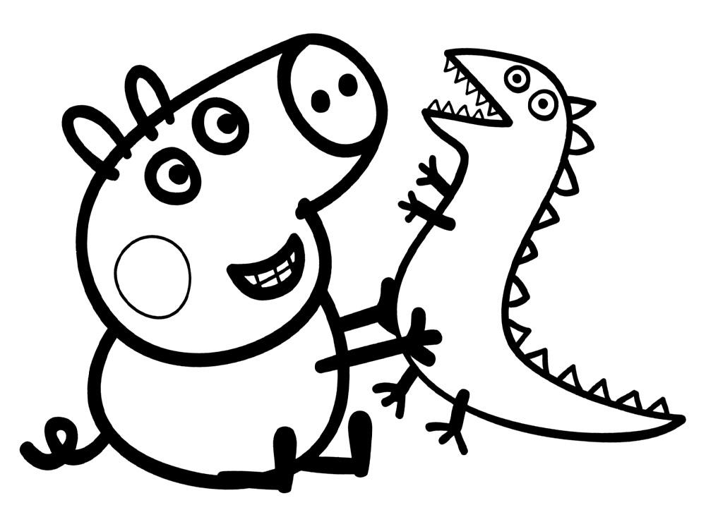 Dibujos peppa pig para colorear cuentoslargos com for Imagenes de cuadros abstractos para colorear