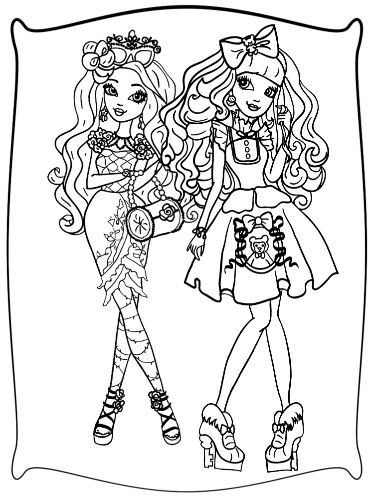 Ever After High Dibujos Infantiles Para Colorear