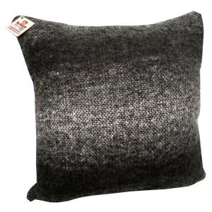 almofada decorativa em lã tie dye cinza e preto