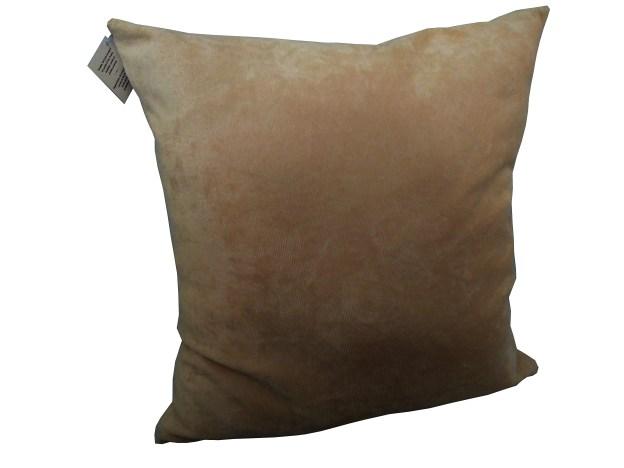 almofada decorativa veludo bege