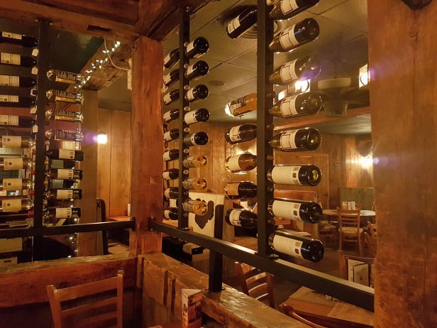 the wine wall at mohawk chophouse