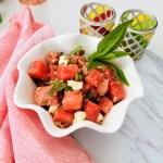 watermelon feta lentil