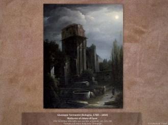 Giuseppe Termanini (Bologna, 1769 – 1850) | Notturno al chiaro di luna | Olio su prima tela nella sua cornice originale, cm. 59 x 44. Firmato sul retro della tela Termanini.