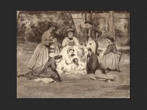 Luigi Bertelli | Gruppo di famiglia in un giardino