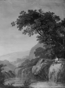 Pietro Piani | Paesaggio con figura
