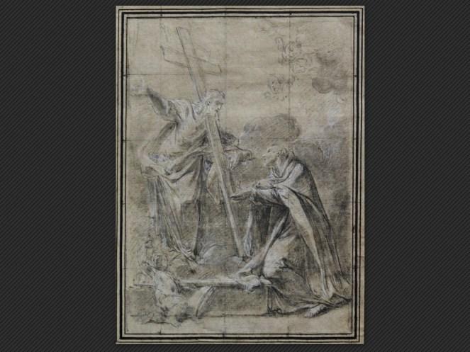 Francesco Monti   Cristo appare a Sant'Alberto carmelitano