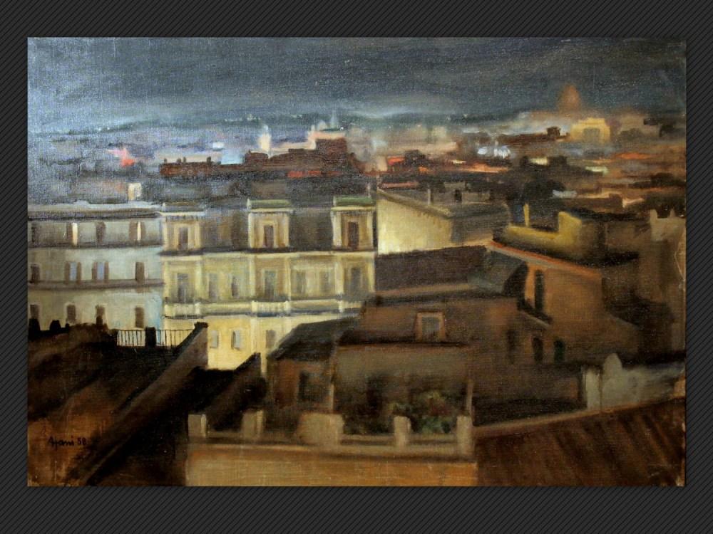 Dipinti antichi | Galleria de' Fusari | Ajani, Veduta di Roma