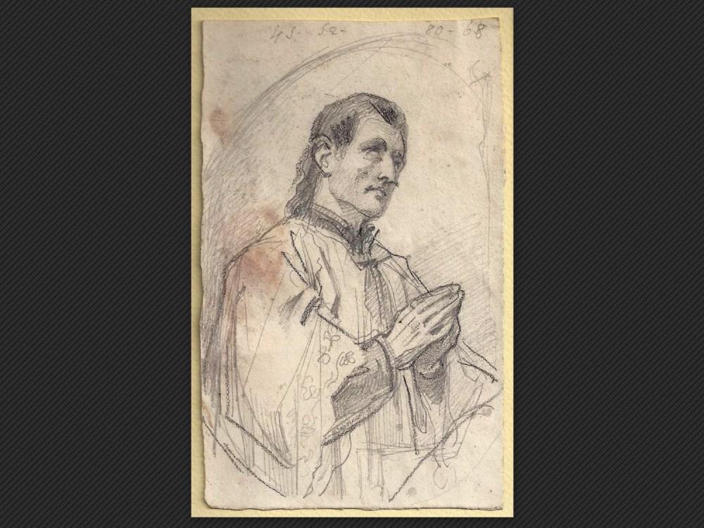 Dipinti antichi | Galleria de' Fusari | Alessandro Guardassoni, Figura orante