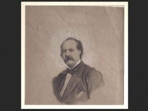 Alessandro Guardassoni, Ritratto | Disegno su carta grigia, cm. 14 x 14