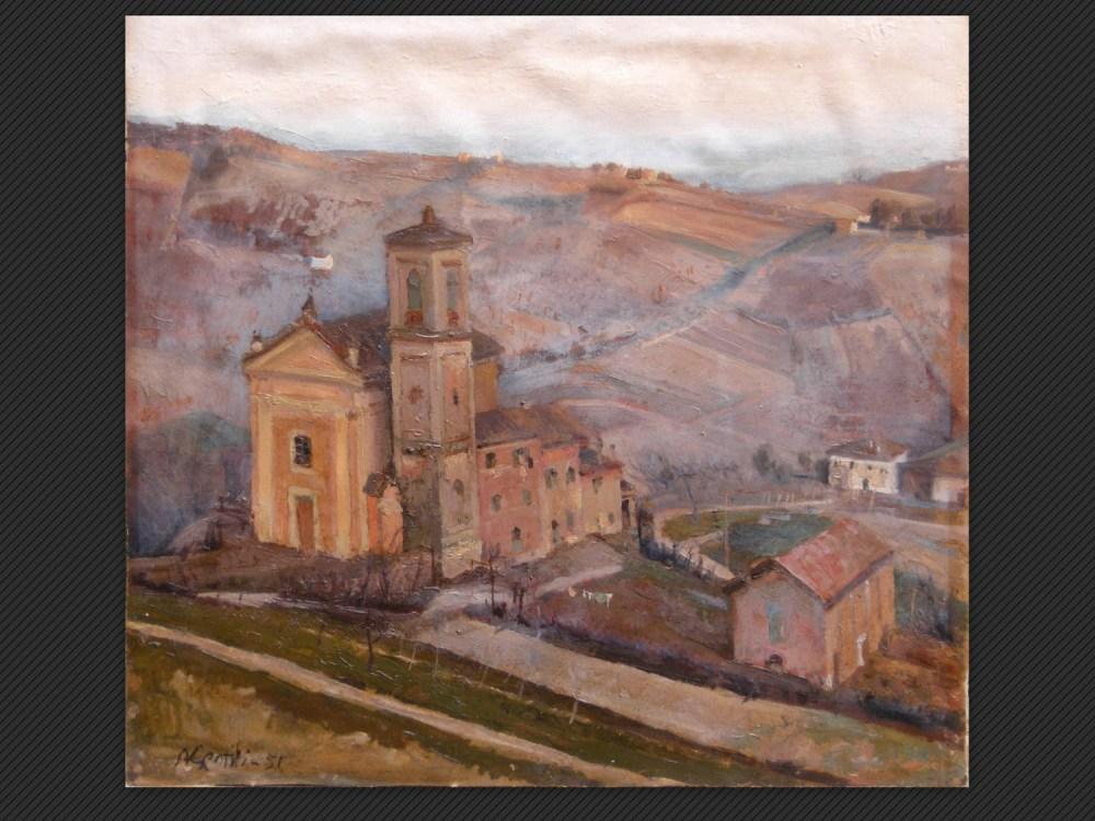 Dipinti antichi | Galleria de' Fusari | Arnaldo Gentili, La piccola parrocchia (Casaglie)