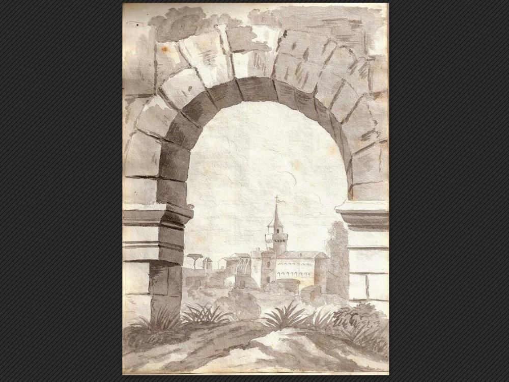 Dipinti antichi | Galleria de' Fusari | Carlo Calori, Torre del Grillo