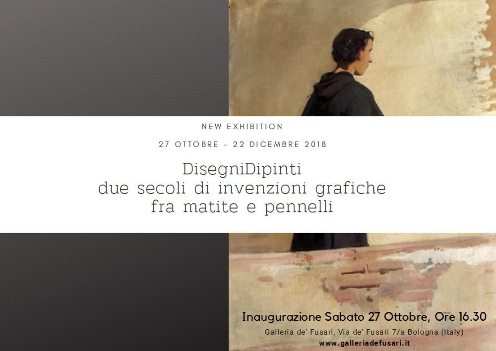 Dipinti antichi   Galleria de' Fusari   DisegniDipinti Cartolina Invito