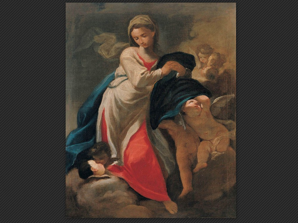 Dipinti antichi | Galleria de' Fusari | Domenico Pedrini, Vergine e angeli
