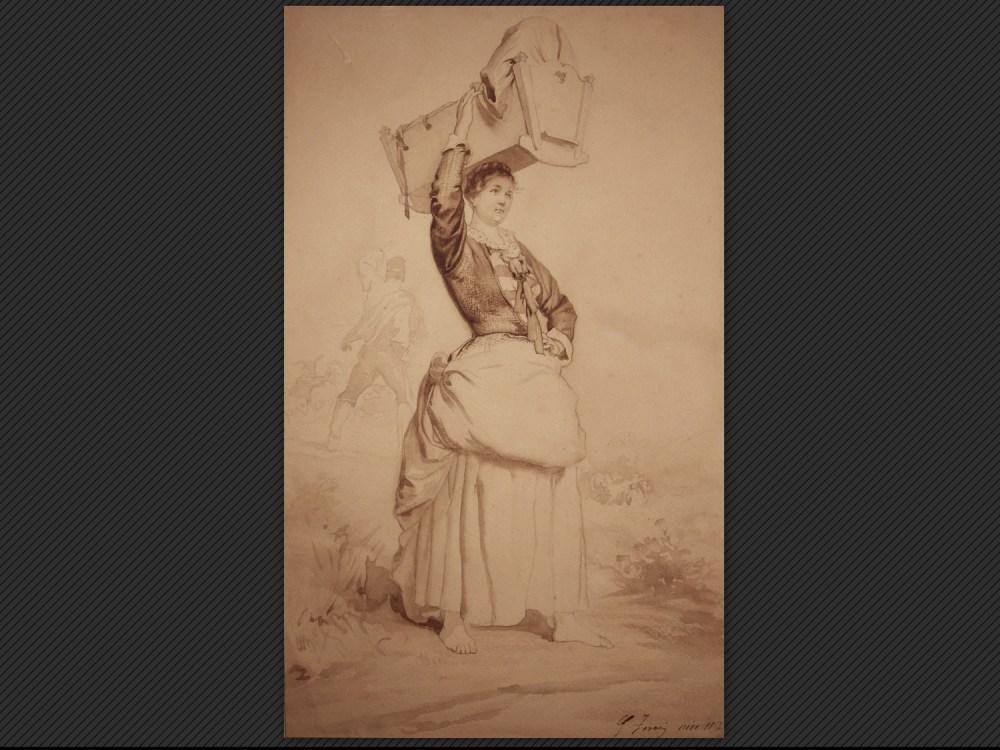 Dipinti antichi   Galleria de' Fusari   Gaetano Ferri, Studio per figura femminile