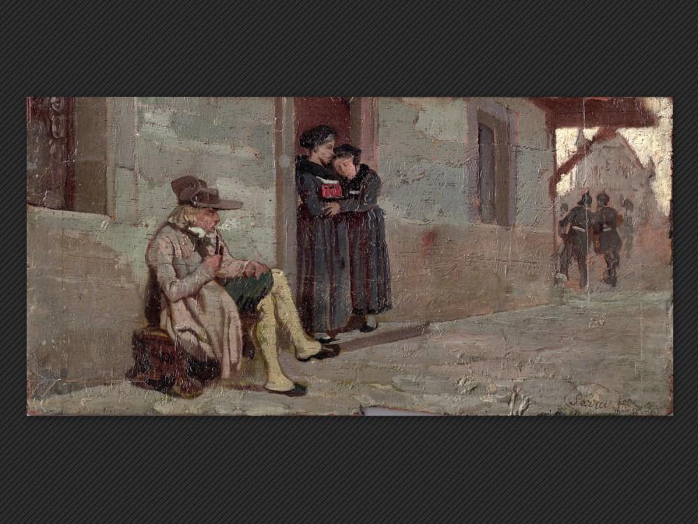 Dipinti antichi | Galleria de' Fusari | Luigi Serra, Lungo la via