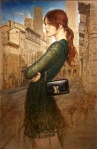 Ioannes Lucas Bononiensis | La Fermata | Oil on canvas, cm. 120 x 80