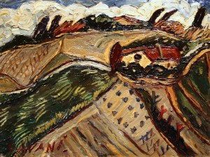Amedeo Cavani, Colli di Bologna, Olio su tela, cm 30 x 40