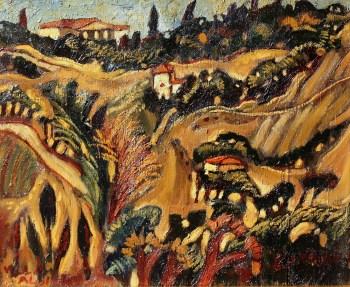 Amedeo Cavani, Villa Aldini, Olio u tela, cm 43 x 53