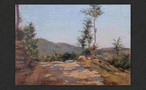Alberto Giacomazzi - Stradello appenninico, olio su tavola, cm. 27 x 38,5