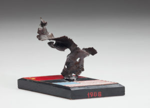 Sculpture made of destroyed Soviet missile shrapnel, 1990. Gift to Ambassador Eileen Malloy. Collections of the National Museum of American Diplomacy