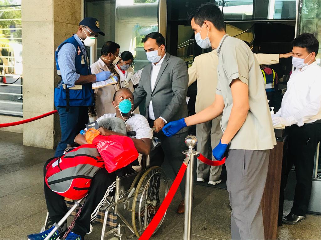 Staff at the U.S. Mission to India pushed wheelchairs, loaded luggage, and drove overnight to collect U.S. citizens stranded across the country due to India's national lock down.