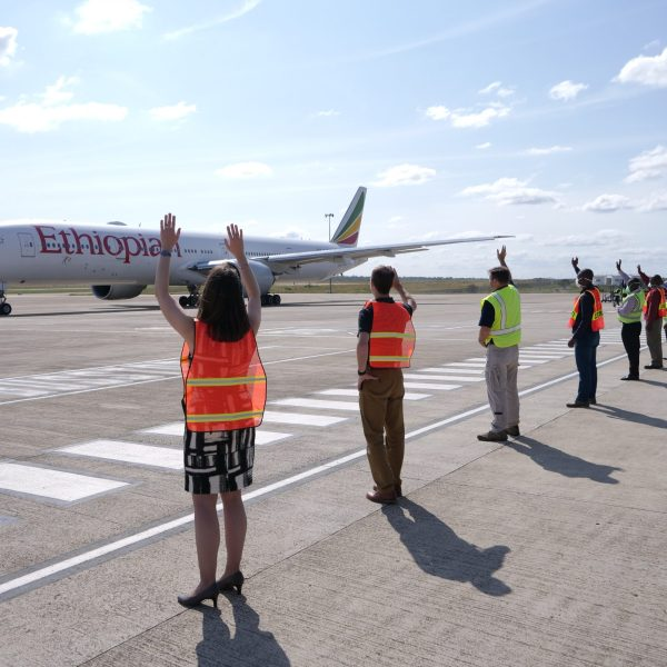 Americans welcome plane to assist in their repatriation