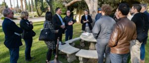Under Secretary of State for Management Brian Bulatao greets Wuhan evacuees in California. Photo courtesy of Jamie Fous