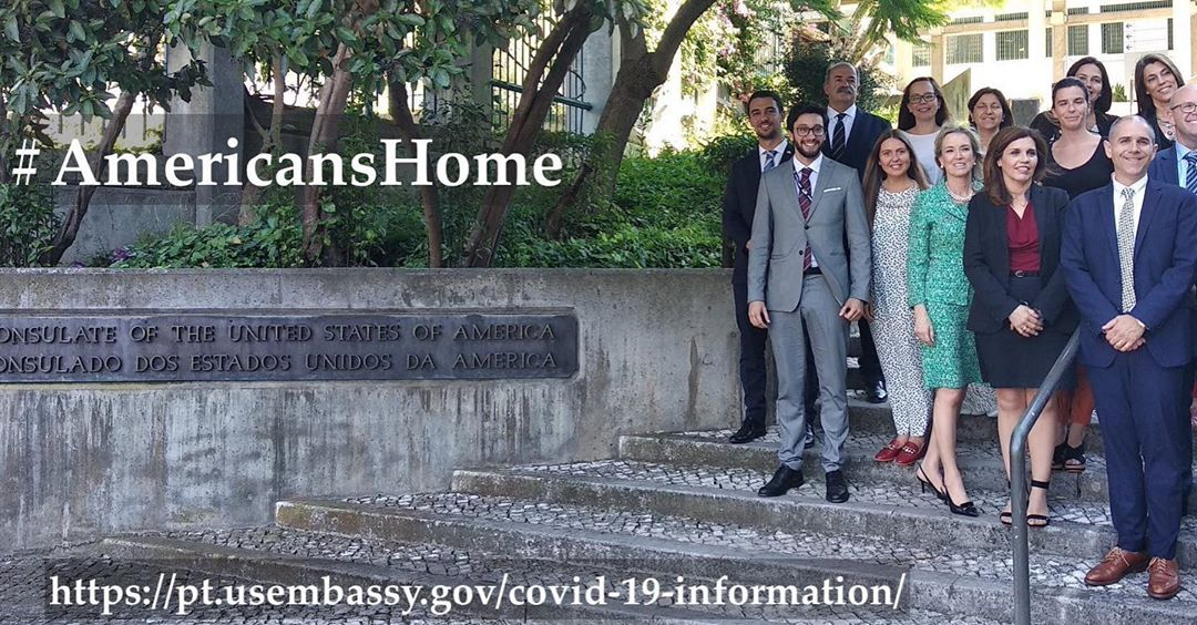 Consular Assistant Secretary Risch coordinated teams around the world in getting more than 80,000 #AmericansHome since COVID-19 began. Photo courtesy of U.S. Embassy Lisbon, Portugal