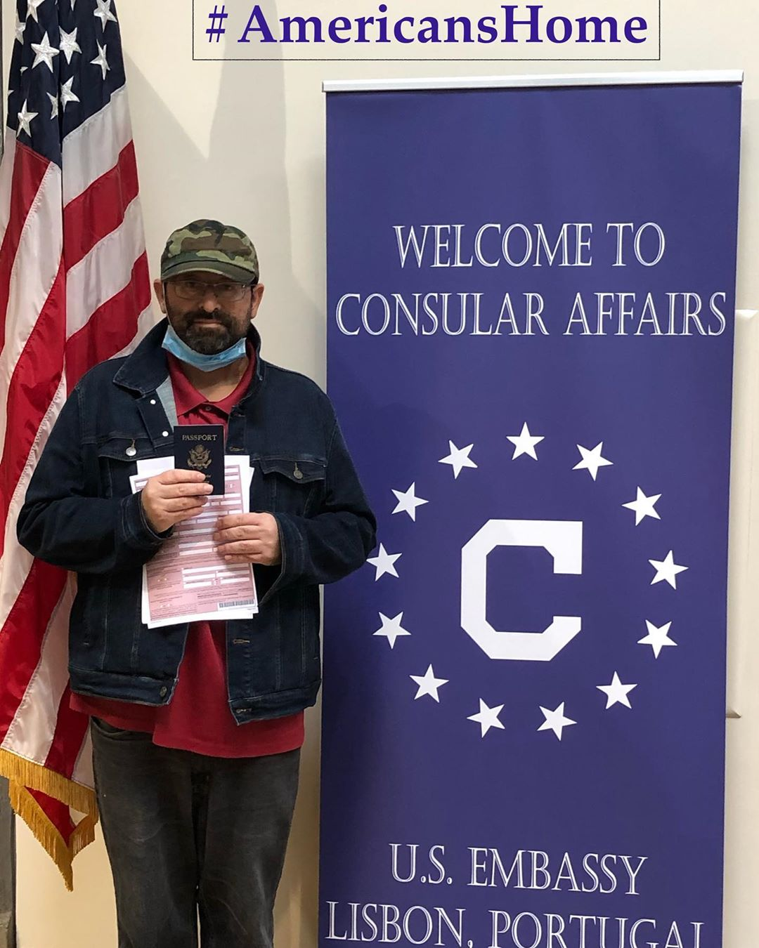 A U.S. citizen who recovered from COVID-19 takes a moment to express his gratitude to U.S. Embassy Lisbon and local health officials.