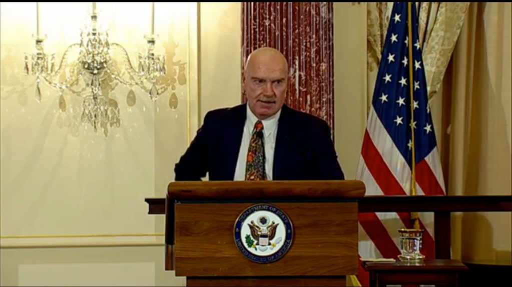 David Buss, the first president of glifaa at glifaa's 20th anniversary event at the Department of State.