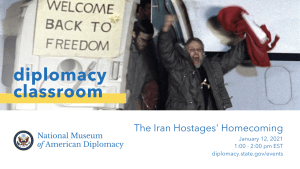 Diplomacy Classroom Iran Hostages' Homecoming