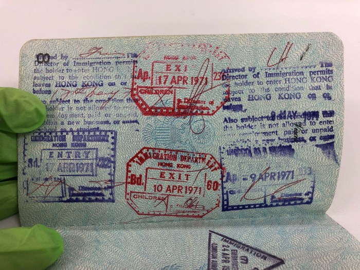 U.S. Table Tennis Passport China Entry Exit