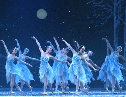 """The snowflakes of The Washington Ballet in """"The Nutcracker"""" during its three week run in December."""