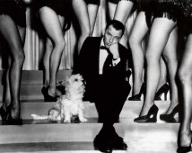 Frank Sinatra with his cairn terrier