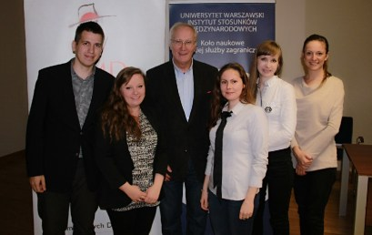 """""""Profession: Diplomat"""" lecture at University of Warsaw"""