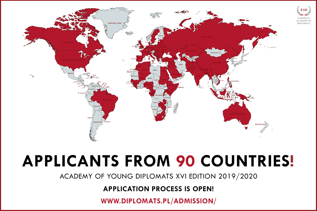 AYD XVI Edition Admission – 90 countries and counting!
