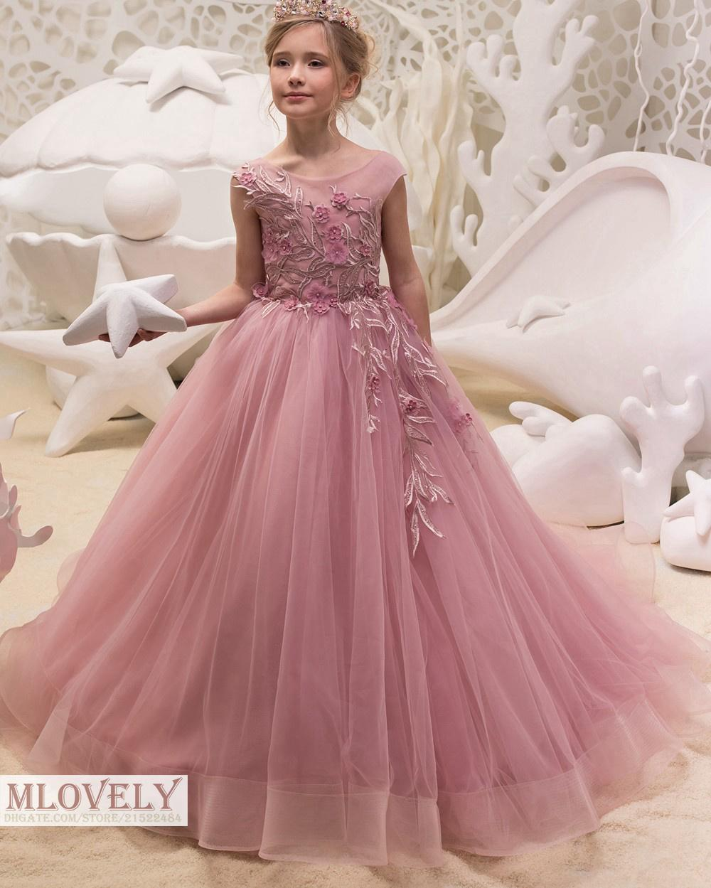 Https Ar Dhgate Com Product Ball Gown Salmon Kids Pageant Dress Birthday 547354152 Html