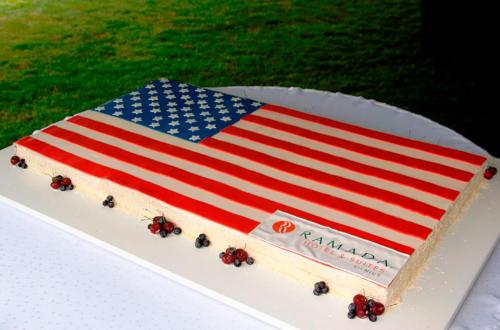 Fourth of July cake courtesy of Ramada Hotels & Suites Photo via US Embassy Vilnius/FB