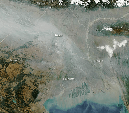 NASA image courtesy Jeff Schmaltz, LANCE MODIS Rapid Response