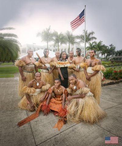 "Ambassador A. Frankie Reed had her farewell ceremony at the Embassy. From everyone here at the Embassy we wish her all the best and a ""Va nuinui vinaka e na nomu lesu tale i America"" (photo from US Embassy Fiji/FB)"