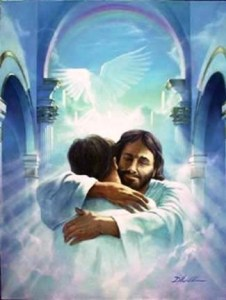 Jesus' Enveloping Hug