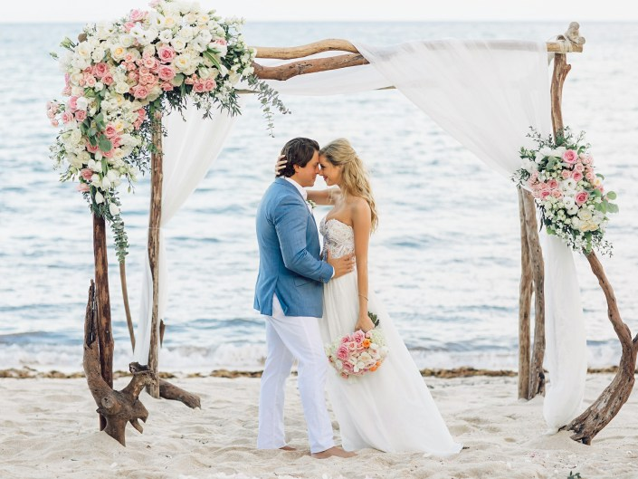 Beach Wedding in Akumal, Riviera Maya